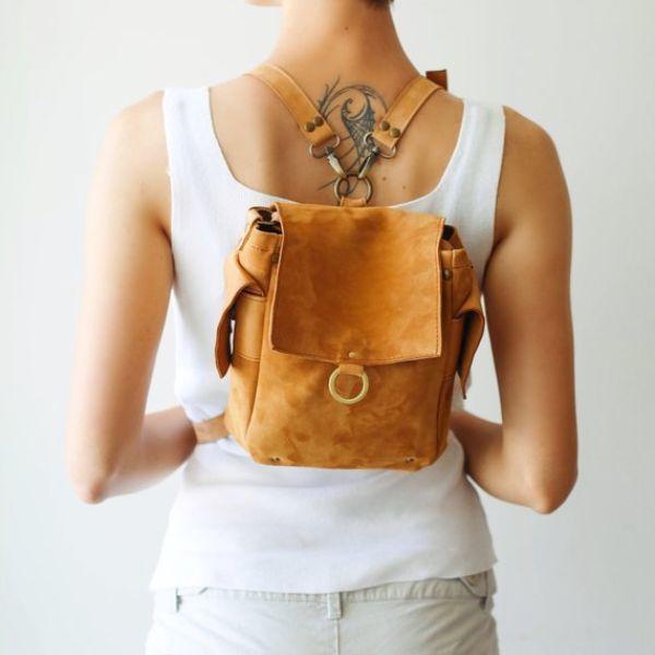 Yellow Mini Backpack